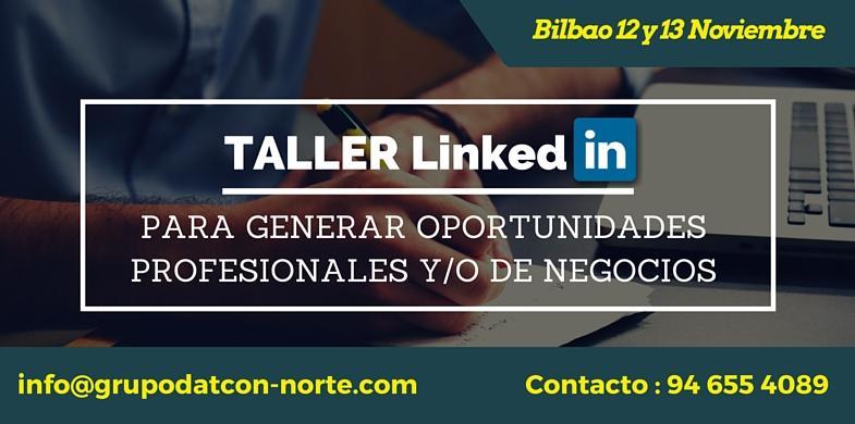 Taller LinkedIn en Bilbao